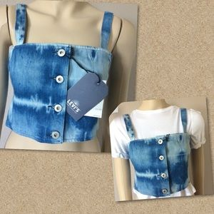 Levi's Made & Crafted denim crop top